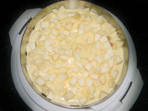 Apfel-Pfirsich-Pudding Kuchen 02