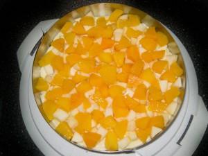 Apfel-Pfirsich-Pudding Kuchen 03