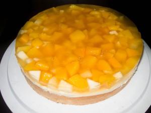 Apfel-Pfirsich-Pudding Kuchen 05